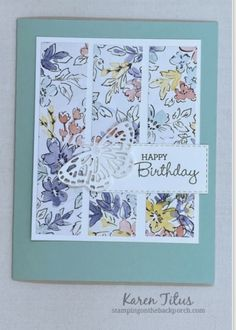 Birthday Cards For Women, Handmade Birthday Cards, Handmade Cards, Fabric Cards, Paper Cards, Butterfly Cards, Flower Cards, Mom Cards, Scrapbook Cards