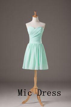 Aline Sweetheart prom dress Chiffon Prom Dress by CinderellaDress Mint Bridesmaid Dresses, Grad Dresses, Prom Party Dresses, Quinceanera Dresses, Homecoming Dresses, Evening Dresses, Formal Dresses, Bridesmaids, Dress Party