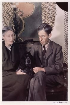 Virginia Woolf (née Stephen) and Leonard Woolf. Colour print by Gisèle Freund. Tavistock Square, 24 June, (Via The National Portrait Gallery) Virginia Woolf, Vita Sackville West, Leonard Woolf, Duncan Grant, Bloomsbury Group, Marie Curie, Writers And Poets, Famous Couples, National Portrait Gallery