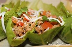 The Best Chicken Lettuce wraps  - Chipotle Chicken Lettuce Cups - Ideal Protein