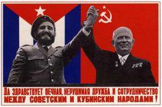 'Long Live Soviet-Cuban Friendship' Soviet Poster