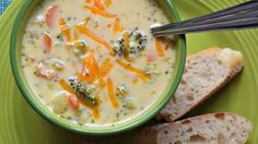 Serve fresh broccoli and Cheddar soup in under an hour! This quick recipe is easily adaptable to suit your tastes.