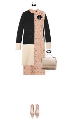 """""""Color Block Coat"""" by ittie-kittie ❤ liked on Polyvore featuring moda, Derek Lam, Zara, Givenchy, Miu Miu, Belk & Co., Lanvin, women's clothing, women i female"""