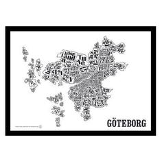 Gøteborgskart poster