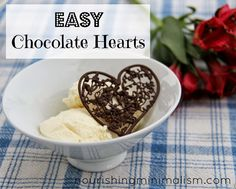 EASY Chocolate Hearts, a Simple Valentine Treat. Great activity for kids too!
