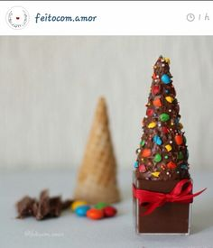 Árvore de natal de chocolate