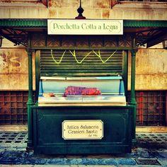Porchetta umbra in Piazza Matteotti, #Perugia. @Roberta Causarano Schiffino