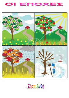 Slikovni rezultat za clip art four seasons Seasons Poem, Seasons Of The Year, Four Seasons, Beautiful Landscape Wallpaper, Landscape Artwork, Free Cliparts, Butterfly Species, Blossom Flower, Free Illustrations