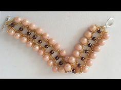 Pulseras. Pulseras con perlas, pulseras con chaquira, pulseras con chaquira paso a paso - YouTube