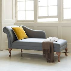 Garbo Linen Chaise Longue - Soft Grey