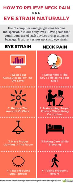 Note the 10 Easy Ways To Relieve Your Neck pain And Eye Strain. The tips listed here help get rid of the discomfort much faster. These habits can surely change the way your work.