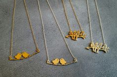 Love Bird Necklaces - Choose from 4 styles    simple and sweet check out our fun love bird necklaces  Starting at    83% OFF