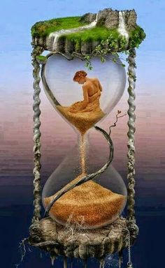 Very beautiful Hourglass. This Hourglass almost has a hauntingly beautiful feel to it when I look at it. It's as if the woman's life is falling away from her as she sits there. Fantasy Kunst, Fantasy Art, Time Art, Surreal Art, Photo Manipulation, Belle Photo, Cool Art, Art Photography, Artsy
