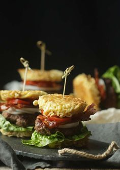 Mini Ramen Burger Sliders Recipe