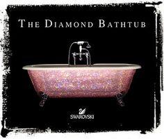 pink diamond clawfoot bathtub