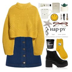"""""""ha.p.py"""" by anythingbutjustx ❤ liked on Polyvore featuring Oasis, H&M, Anya Hindmarch, Chicnova Fashion, ELSE, Retrò, Mamonde and FOSSIL"""