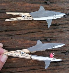 Clever clothespin crafts - shark