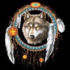 Wolf Indian Dream Catchers | Im-Shirt /// WS 5032 Wolf_Dreamcatcher_Black-Wölfe+Indian - Dein ...