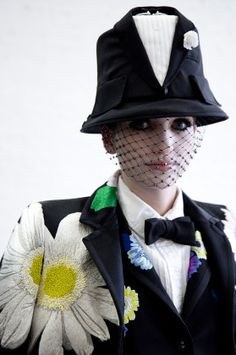 Thom Browne Spring 2015: Backstage Beauty ~ Ha! This needs to STAY backstage!