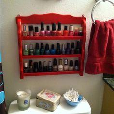 I want to do this.....no I NEED to do this. My nail polish is everywhere!!