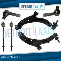 2006 2007 Ford Focus New 8pc Front Lower Control Arm Set /& Suspension Kit