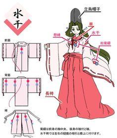 A shirabyoshi dancer. Japanese Costume, Japanese Kimono, Japanese Outfits, Japanese Fashion, Cosplay Diy, Cosplay Costumes, Moda Kimono, Heian Era, Manga Tutorial