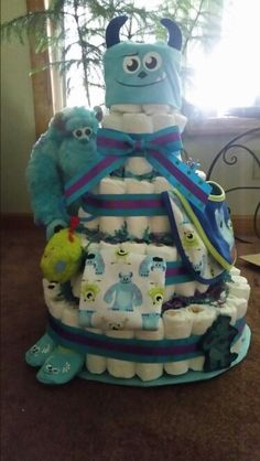 Monsters INC. Diaper Cake!