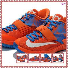 super popular cbe77 4126b scarpe da tennis Arancione Cielo Blu Bianco Nike KD 7(VII) KD009415 Uomo