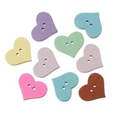 DoreenBeads Wood Sewing Button Scrapbooking Heart Mixed Two Holes x 15 PCs 2015 new Heart Crafts, Sewing A Button, Sewing Crafts, Arts And Crafts, Kids Rugs, Buttons, Toys, Scrapbooking, Home Decor