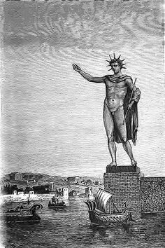 Artist's impression of how the towering Colossus of #Rhodes must have looked like.