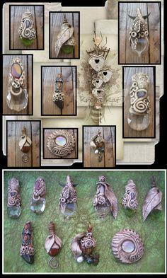 Création de bijoux en argile polymère, perles et divers matériaux... en harmonie avec la nature.