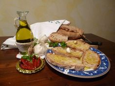 Bruschetta, with the delicious  Extra-virgin Olive Oil of Malagronda. Cooking Class/Agriturismo CaseGraziani, Umbria, Italy