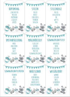 Baby Shower Taboo Game English / Babyshower Game English- Babyparty Tabu Spiel Deutsch/ Babyshower Game German Party game for your Babyshower Party You receive from … - Party Favors, Shower Favors, Party Games, Fiesta Baby Shower, Baby Shower Games, Baby Shower Parties, Babyshower Party, Baby Party, Cards