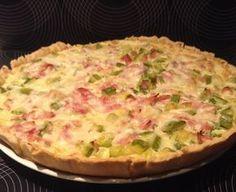 Tarta de jamón y zucchini