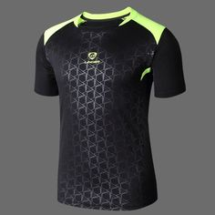 a7f353183ea5e Summer Sports Tops Quick Drying Badminton Football Training Round Neck T- shirt for Men