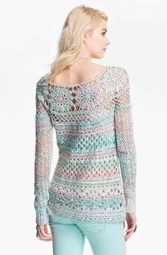 Love the geometric lines of this dress....                              Ring of Roses sweater from Free People                    Lucy Croc...
