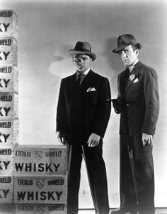 James Cagney and Humphrey Bogart in a publicity still for The Roaring Twenties [1939]