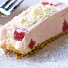 Turkish Delight Cheesecake Garnished with Rose Petals
