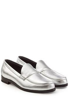PIERRE HARDY - Metallic Leather Loafers   STYLEBOP.com