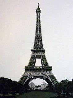 Eiffel Tower, 2013. Paper. 20 in x 14 in.