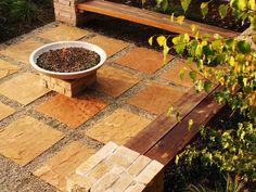 tiled square stones / landscape