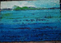 Sebastian Kalota - horyzont niebieski #horyzont #niebieski #blue #paint #painting #obraz #malarstwo #akryl