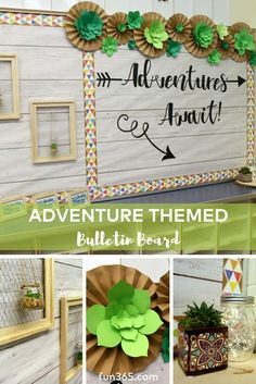 We can't get enough of this succulent inspired bulletin board. This board goes with an entire adventure themed classroom reveal! Click to see more.