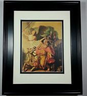 1968 Angel and Balaam by Rembrandt, Old Master Bible Masterpiece Print Framed