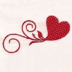 Free Embroidery Design: I Heart You