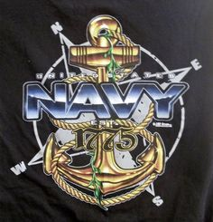 United States Navy Est. 1775 T-Shirt Adult S Small 7.62 Designs Military Drawings, Military Tattoos, Navy Seal Symbol, Military Ranks, Navy Military, Military Life, Us Navy Tattoos, Navy Special Forces, Navy Corpsman