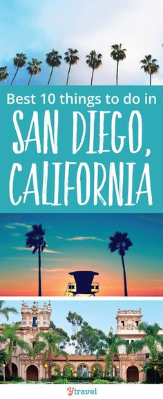 San Diego, California. Planning a San Diego vacation? Here are the 10 best things to do in San Diego to make your California vacation great! Don't visit San Diego before reading this San Diego travel tips guide!  Tips for places to go if you are headed to the beach, attractions such as the San Diego Zoo, where to find the best food and restaurants, fun downtown activities, and more for a vacation with or without kids #SanDiego #California #SanDiegotravel #Californiatravel #beach #beaches