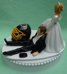 Wedding Cake Topper Boston Bruins Hockey Themed w/ by WedSet, $59.99