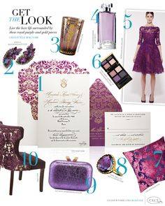CeciStyle Magazine v188: Get The Look - Purple Reign - Live the luxe life surrounded by these royal-purple-and-gold pieces - Luxury Wedding ...
