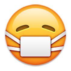 Emoji Information Face with Medical Mask